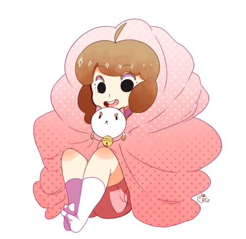 bee wrapped up in a blankie with poopycat (⌒▽⌒)♡
