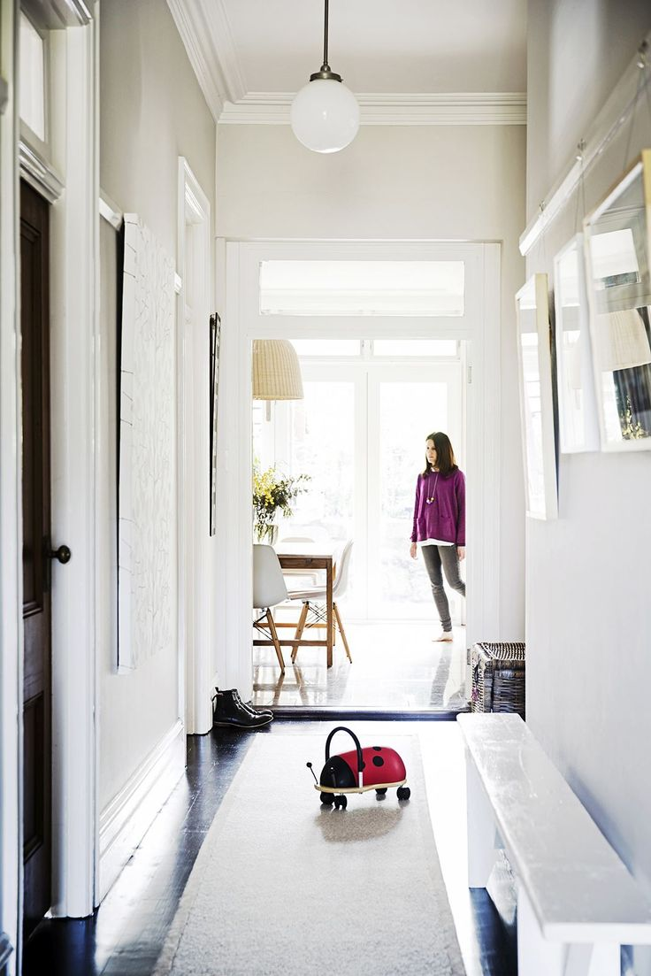 Offcuts From The Bedroom Carpets Have Been Used To Make Long Rug In Hallway