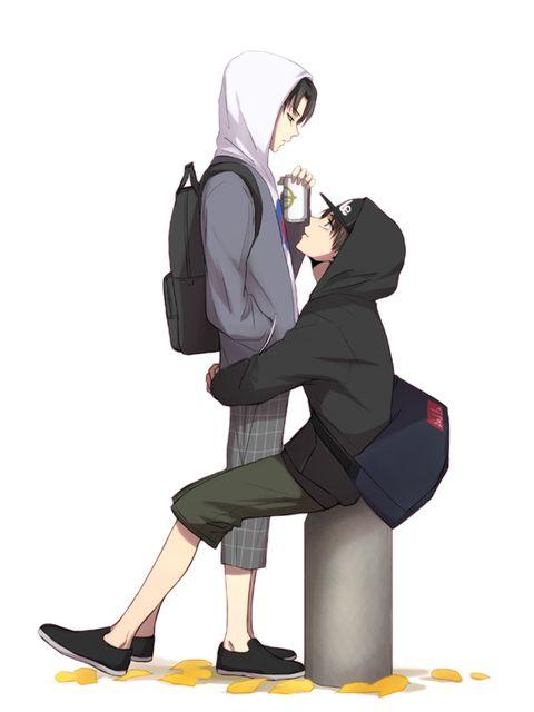 Eren x Levi  Aw.. this is so cute ❤