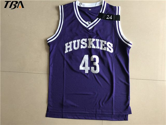 2017 TBA K.Tyler #43 Jersey Huskies The 6th Marlon Wayans Kenny Tyler Basketball movie Jerseys Purple Color For Men #Affiliate