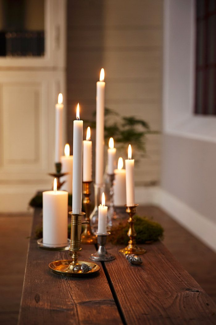 Crown candles in different hights creates a cosy mood RAL certified