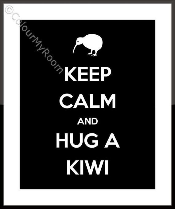 KEEP CALM and hug a KIWI Printable Home Wall Art Print Kiwi New Zealand Aotearoa All Blacks Rugby instant download on Etsy, $3.00