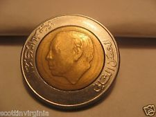 1 Morocco 5 Dirham Daraham Hasan II Y 82 bimetallic 1987 1407 Free shipping