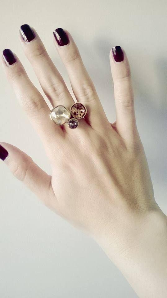Aurora anello kailua in ottone placcato con elementi - Qvc marchi cucina ...