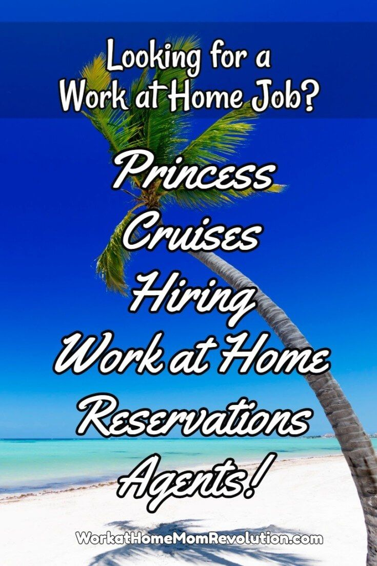 Princess Cruises is hiring work at home reservations agents in California. Training for this work from home job is paid. Compensation will start at $10.50 per hour (plus incentives). Awesome home-based opportunity! You can make money from home!