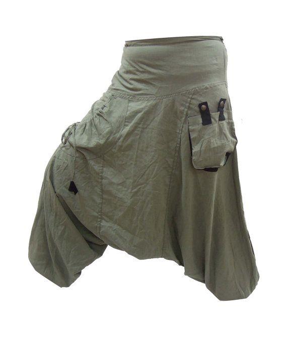 Aladdin Harem Pants , Thai Harem Pants, Hippy Hippie Pants , Boho Gypsy Pants , Fishermen Pants , Genie Yoga Pants
