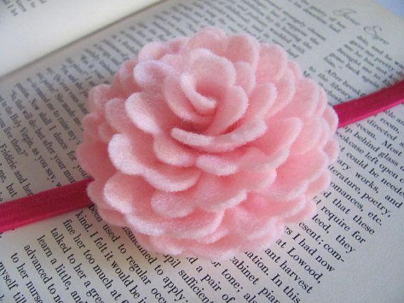 Felt Rose Pattern VIOLETTE ROSE Felt Flower Brooch by SewYouCanToo