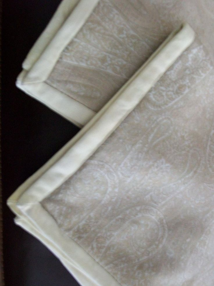 2 Ralph Lauren Suede Trimmed Paisley Throw Pillow Sham Covers White Label - Pillows