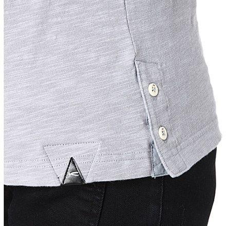 DENHAM Button-detail t-shirt (Grey