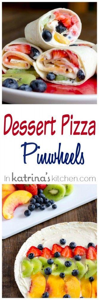 Dessert Pizza Pinwheels Recipe