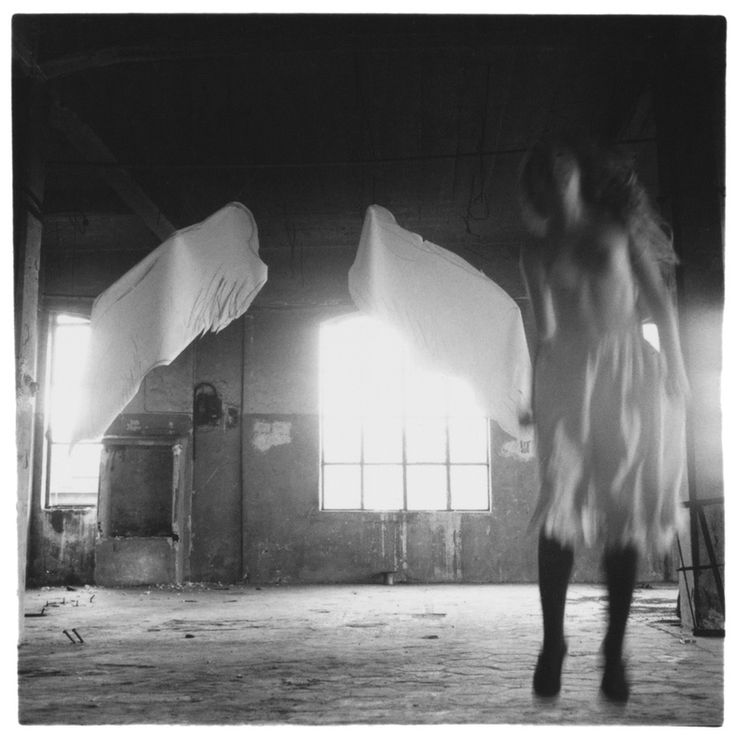 Francesca Woodman | Angel Series | Rome, Italy | 1977 Gelatin silver estate print | 20.3 x 25.4 cm 8 x 10 | in Artists | Victoria Miro