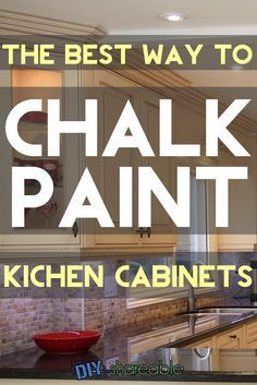 Here's how to chalk paint your kitchen cabinets with DIY alternatives to the Annie Sloan brand. Check out the before and after picture of the white cabinets.