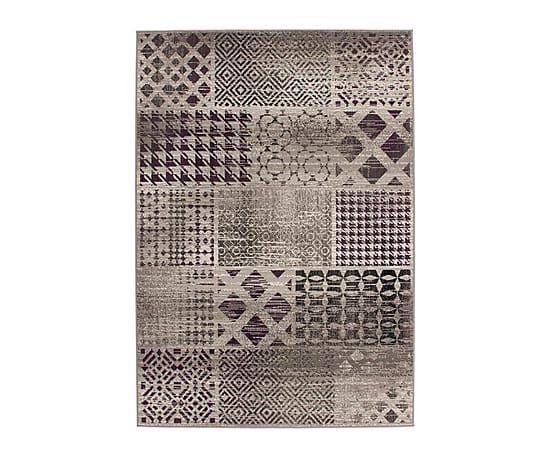 Tapijt Faaria, grijs/lila, 230 x 160 cm