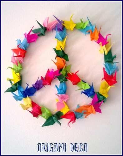 Simbolo De La Paz, De Grullas ! Lindo, Original Y Divertido - $ 60,00