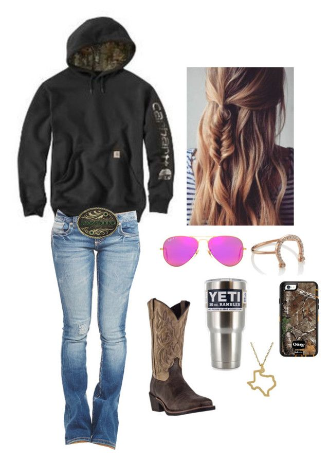 I'm a whole lot in love.. with you by johndeerebabe on Polyvore featuring Wet Seal, Aamaya by Priyanka, Maya Brenner Designs, Ray-Ban and Laredo