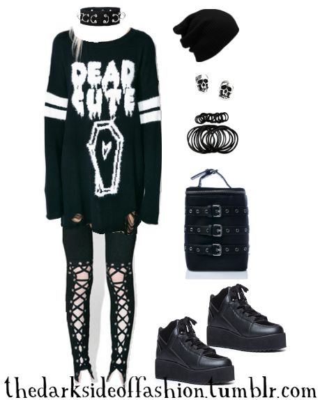 good emo outfits for high school hair