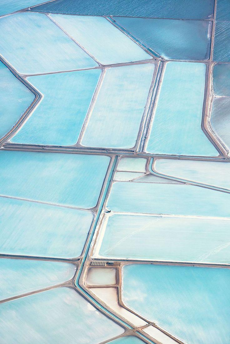 Vus du ciel les marais salants bleus dAustralie ressemblent à des tableaux  2Tout2Rien