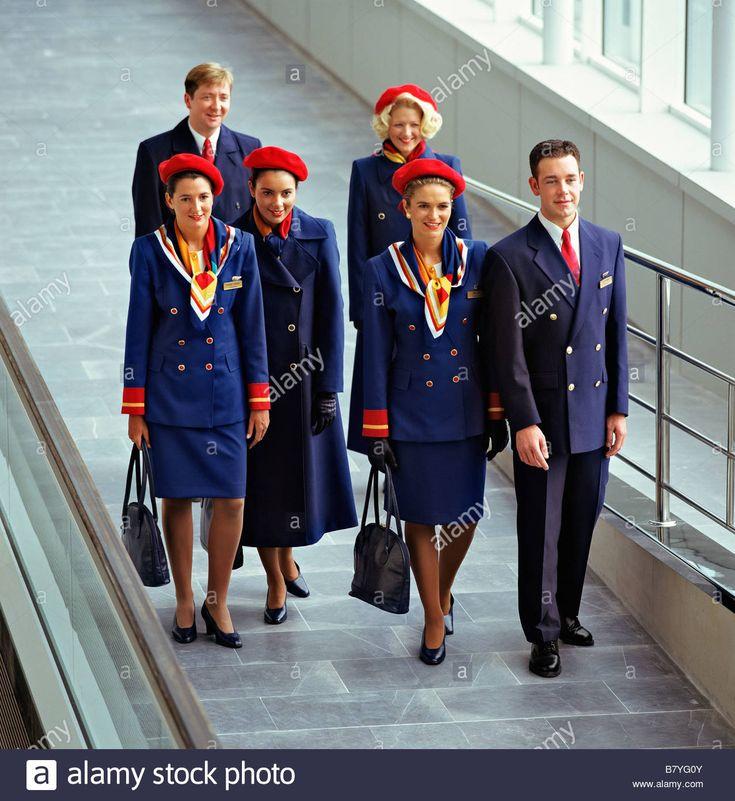 Cabin crew from Britannia Airways, 1996.
