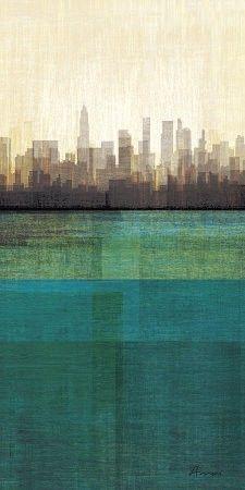 The City.: Metropolitan Jewels Boxes, Cityscapes, Emeralds, Colors, Art Prints, Metropolitan Jewelbox, Cities Skyline, Art Com, The Cities