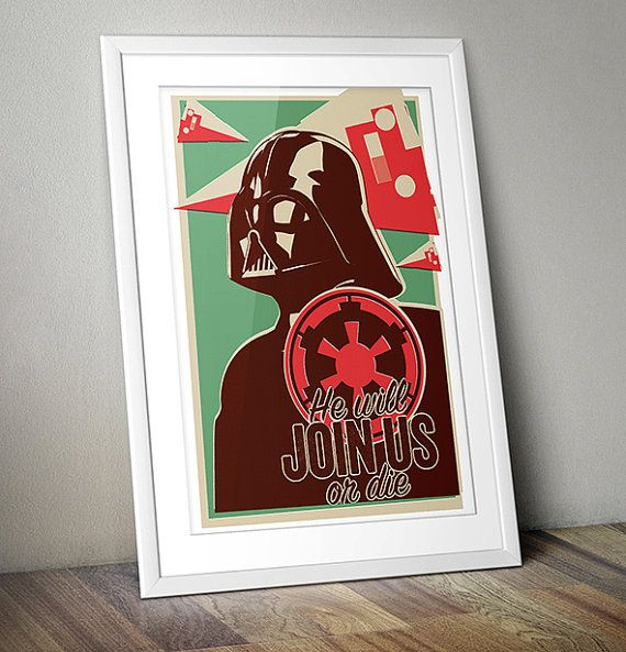 Inspiré de Star Wars Vintage Impression par thedesignersnursery