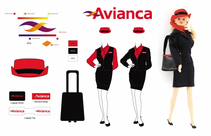 Avianca Airlines flight attendant doll