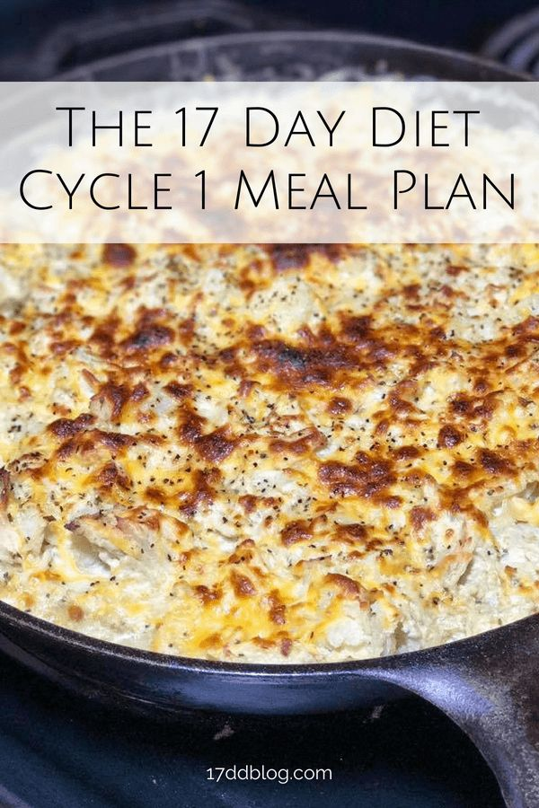 Get a full day sample menu for Cycle 1 of the 17 D…