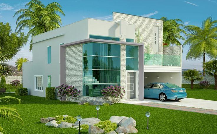 Casa João Pessoa, é um lindo projeto pronto de sobrado com 3 quartos, suite, closet, cozinha americana e área gourmet com piscina.Veja mais plantas de casas