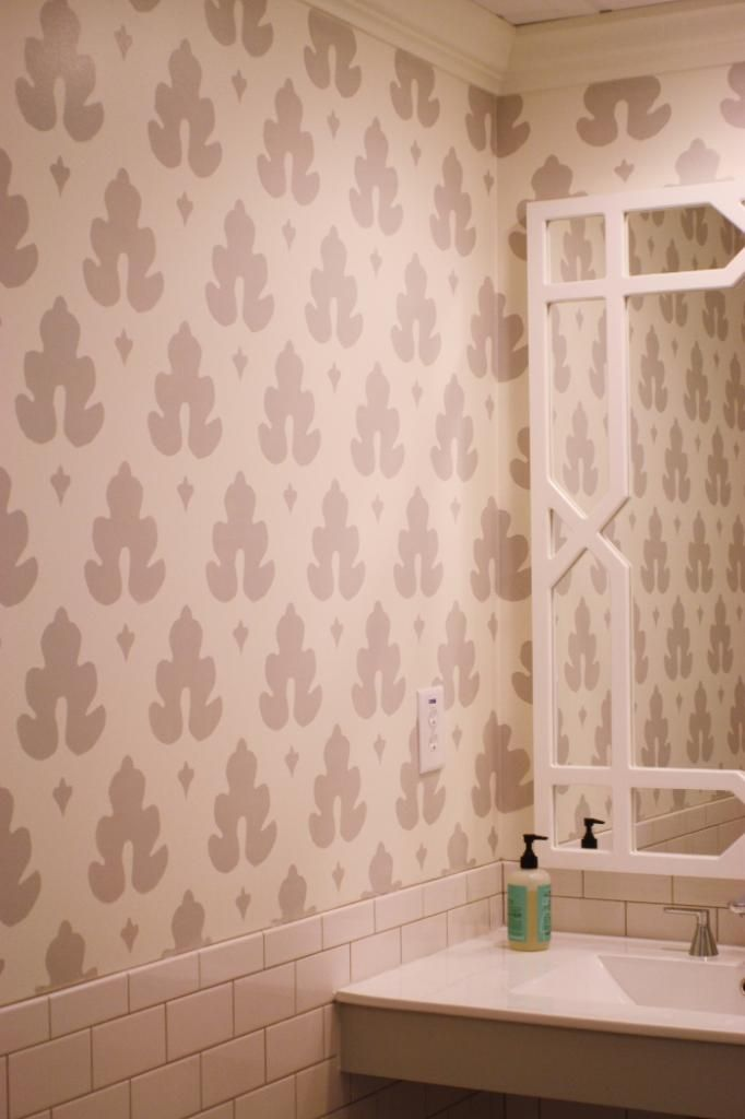 18 best images about stenciled bathrooms on pinterest for Bathroom stencils designs