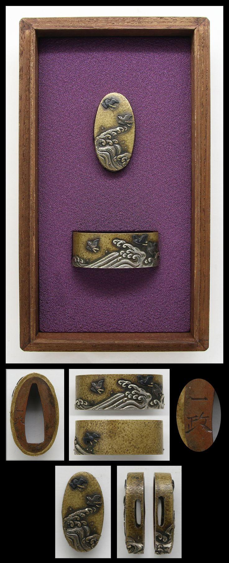 Fuchi Kashira :  | Japanese Sword Shop Aoi-Art.