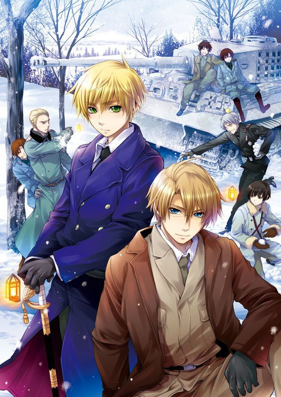 psh...Who care if the Axis are having a snowball fight not like I wanna have a snow ball fight with Prussia or anything! * stares at Prussia possibly drooling *