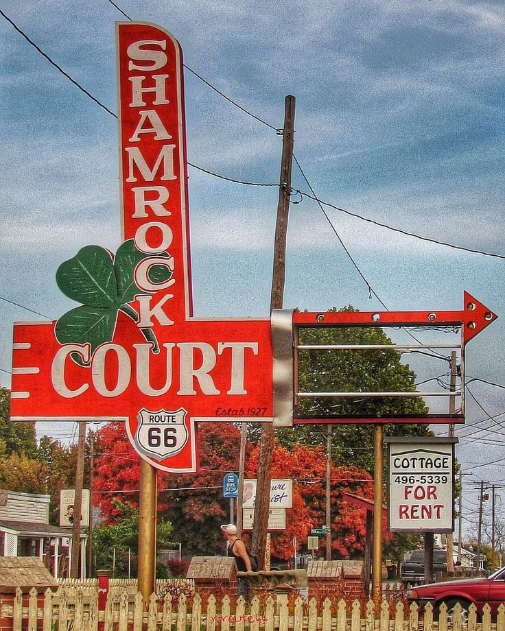 the shamrock court on route 66 in springfield missouri. Black Bedroom Furniture Sets. Home Design Ideas