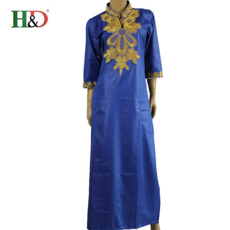 (Gratis pengiriman) Musim Panas Gaya Busana wanita Maxi Dress Sub Das Belo Riche Afrika Cetak Kemeja Afrika Bordir Kaftan Dresses untuk Wanita