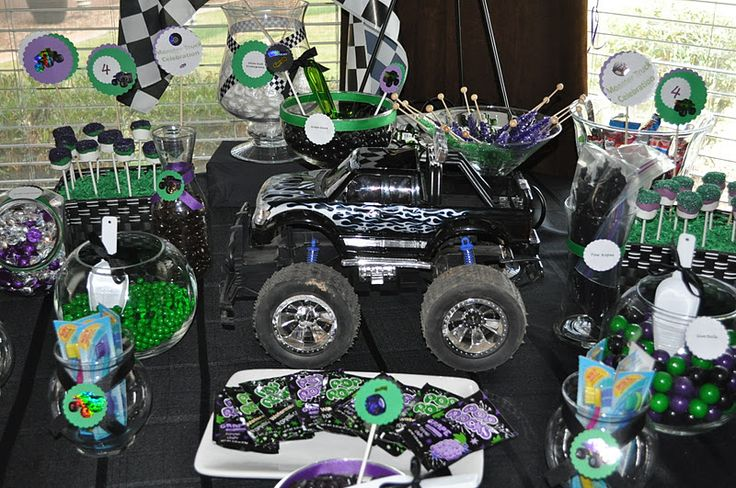 monster truck birthday party | Monster Truck Birthday | A to Zebra Celebrations