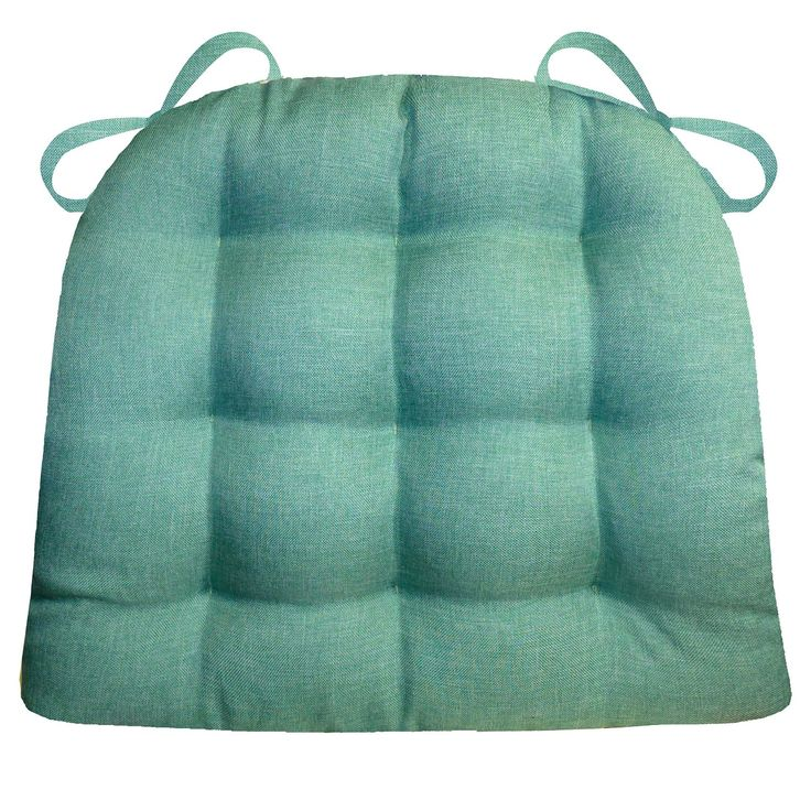 Dining Chair Pad with Ties Hayden Turquoise