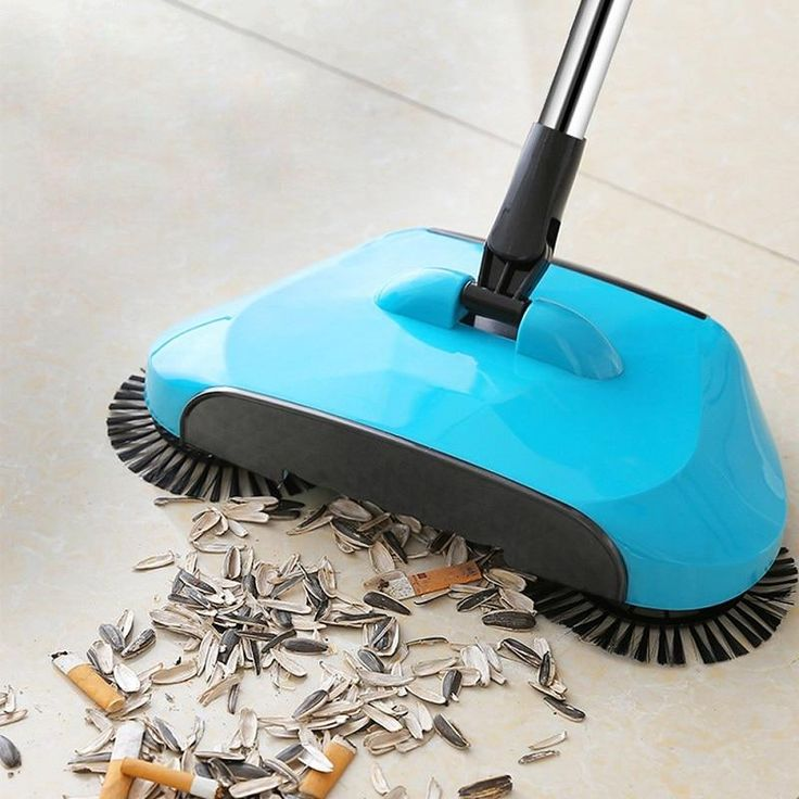 Stainless Steel Sweeping Machine Hand Push Magic Broom Dustpan