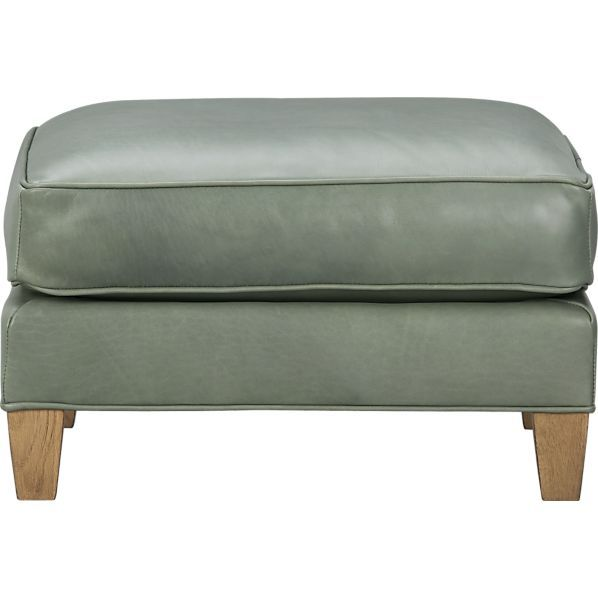 Eiffel Leather Ottoman in Ottomans, Cubes | Crate and Barrel