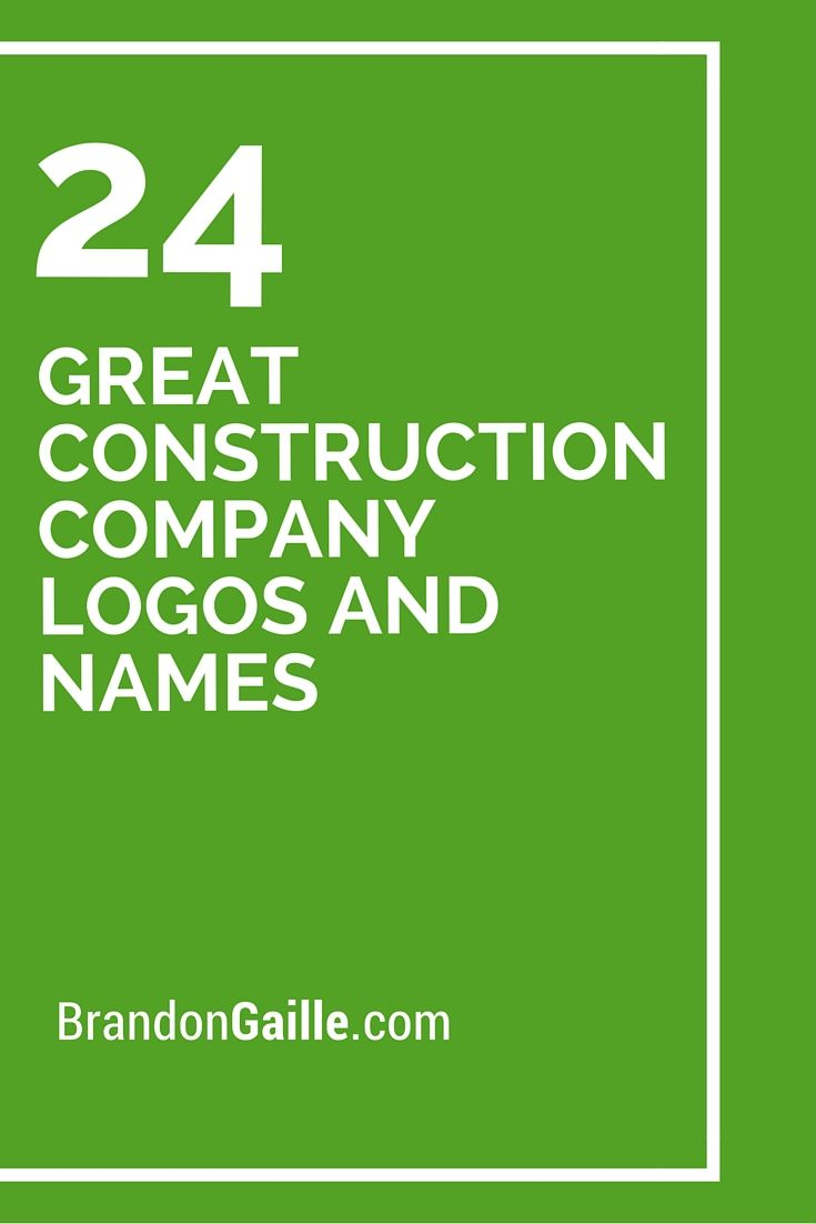 24 Great Construction Company Logos and Names                                                                                                                                                                                 More