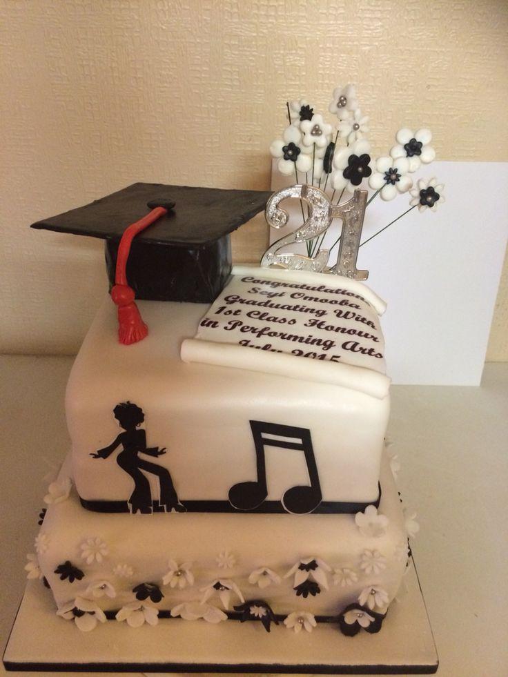 Graduation 21 Years Old Birthday Cake Graduations