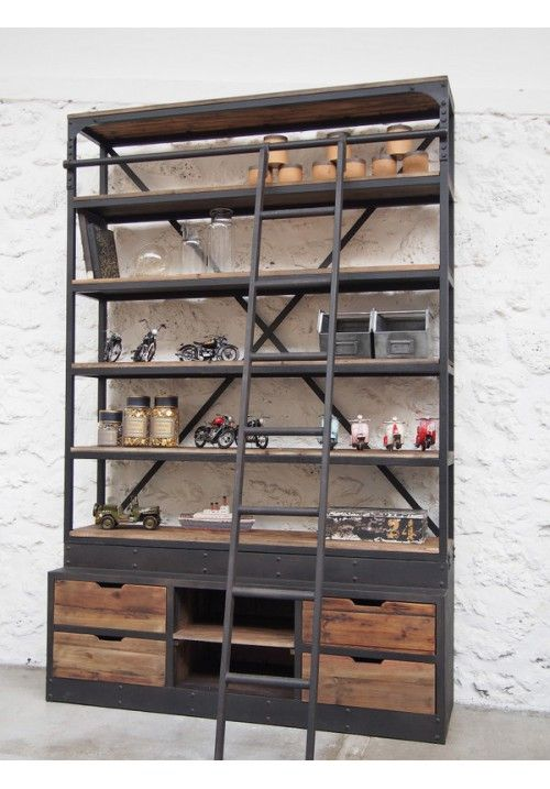 best 25 metal bookcase ideas on pinterest wood and. Black Bedroom Furniture Sets. Home Design Ideas