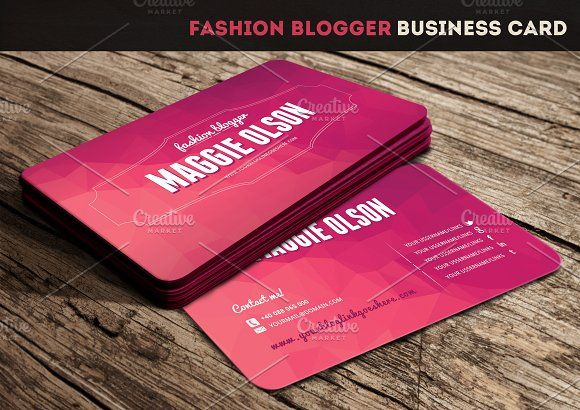 Fashion Blogger Business Card Fashion Business Cards Business Cards Creative Templates Business Card Template Design