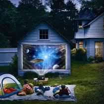 Outside Projector--------See Movies Outside See your movies and games on larger than most screens, when using your, BenQ America DLP Projector XGA 3000 as a Movie Projector. BenQ Projector has a high resolution video display called XGA, also known as Extended Graphics Arrary.