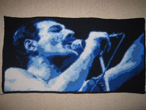 Crochet Freddie Mercury Queen Live Aid 1985