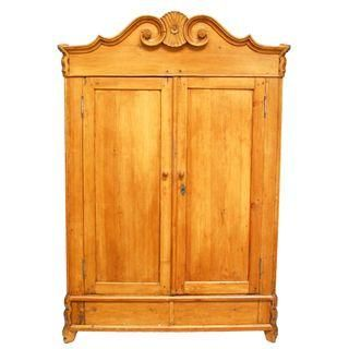 French 19th Century Pine Armoire this screams Scandinavian