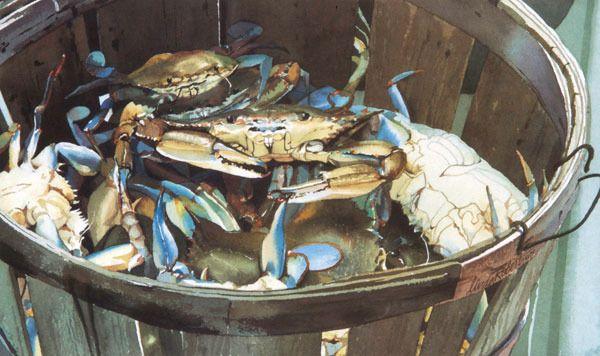 """Image of """"Crabs!"""" bushel of crabs"""