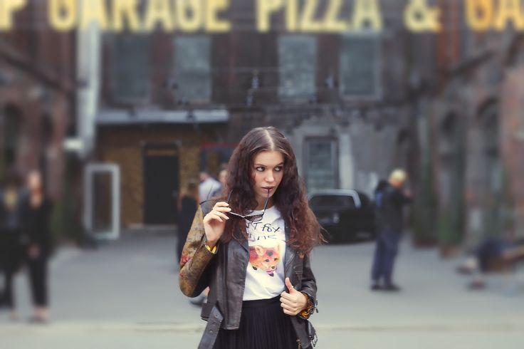 street style, model Maryana Dan