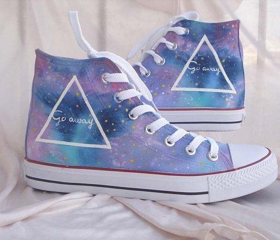 Galaxy Converse shoes Custom Converse Galaxy by Kingmaxpaints, $46.00