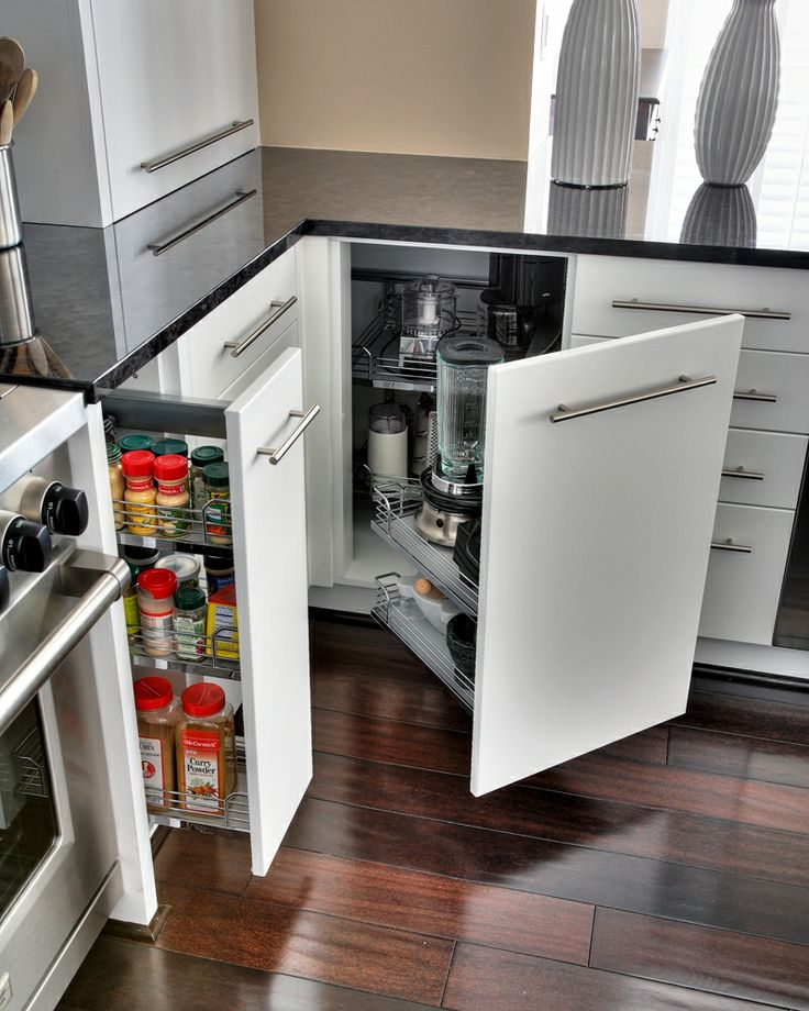 kitchen hafele pull out lower cabinetry in white with slow close corner cupboardcorner - Kitchen Corner Cabinet Ideas