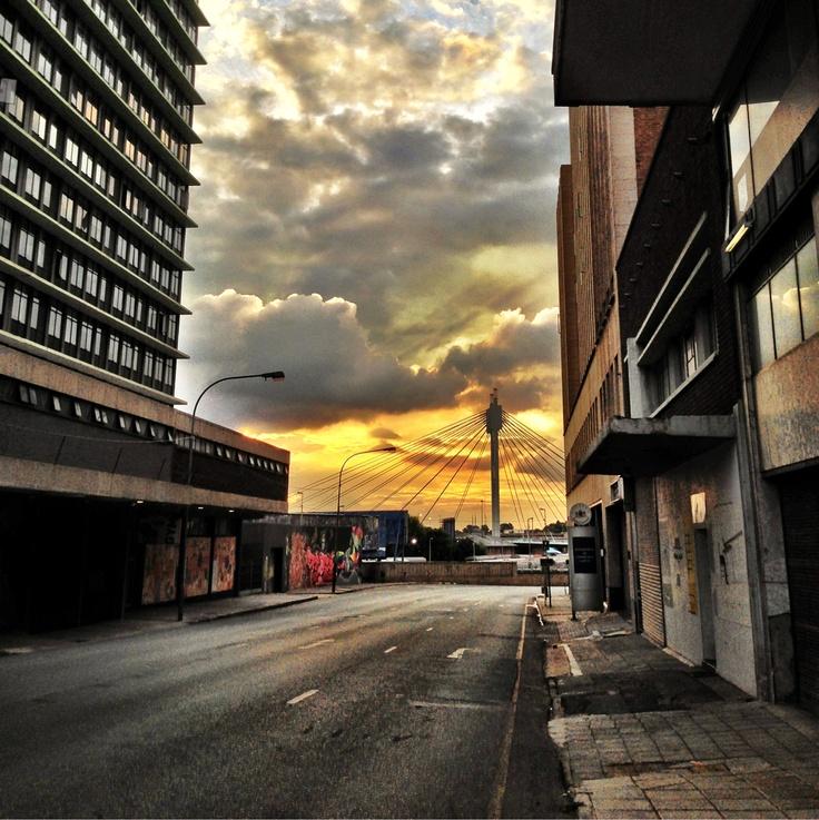 Joburg at sunset.