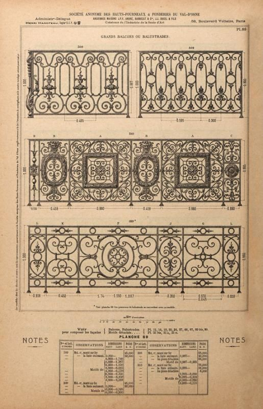 Banisters from the Val d'Osne catalogue.
