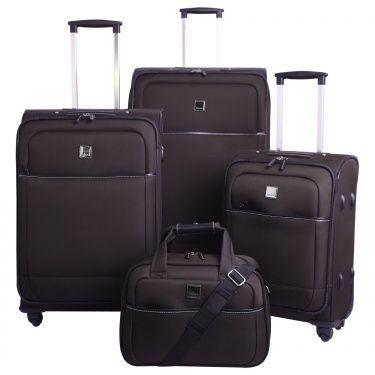 Full Circle III Large 4 wheel Suitcase 76cm CHOCOL